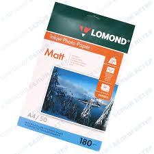 <b>Бумага</b> Lomond A4, 180 г/м2, 50 листов, <b>матовая</b>, <b>односторонняя</b> ...