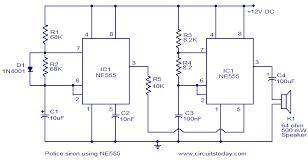 police siren using ne555 electronic circuits and diagram Siren Wiring Diagram police siren using ne555 siren wiring diagram for the 2008 harley