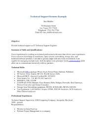 Technical Resume Example  resume examples resume technical skills     tech support resumes support executive resume sample technical       technical resume example