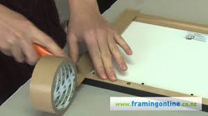 How To <b>Frame</b> A Picture: Taping The Back - YouTube
