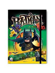 <b>Книга для записей</b> (96 листов, линейка) с резинкой LEGO Batman ...