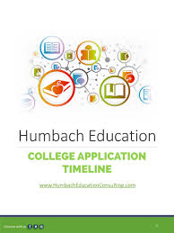 humbach education consulting education college prepping consulting timeline