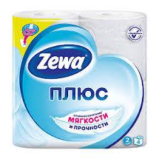<b>Бумага туалетная Zewa Плюс</b> двухслойная Белая, 4 шт. - купить ...