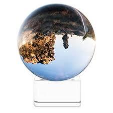 Navaris Crystal <b>Clear</b> Glass Ball - 80mm <b>Transparent K9 Globe</b> for ...