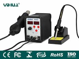 <b>YIHUA</b>-898D/898D+ Series Hot Air Rework Station with Soldering Iron