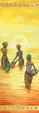 <b>Бумага</b> рисовая для <b>декупажа</b>, <b>Stamperia</b>, 60х24 см, Африканки в ...