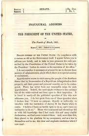president lincoln s first inaugural address 1861 the gilder abraham lincoln first inaugural address 4 1861