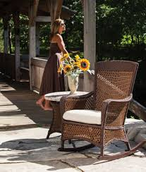 brown wicker outdoor furniture dresses: wicker lloyd all weather taupe chairs wicker lloyd flander gt model rocker