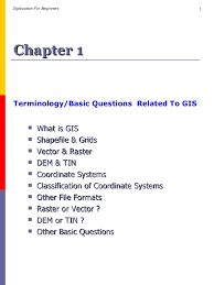 terminology and basic questions about gis