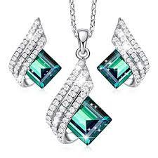 CDE Green Elf S925 Sterling Silver Jewelry Set ... - Amazon.com