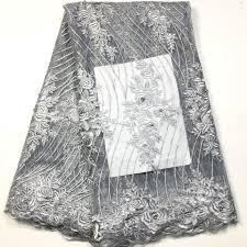 <b>2019 Latest</b> Purple <b>French Nigerian</b> Lace Fabrics High Quality Tulle ...