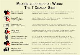 meaninglessness at work the deadly sins infographic meaning at work seven sins