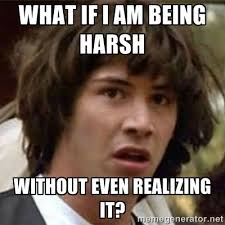 What if I am being harsh without even realizing it? - what if meme ... via Relatably.com