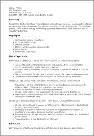 professional chase personal banker templates to showcase your    resume templates  chase personal banker