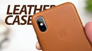 Кожаный <b>чехол Apple Leather</b> Case для iPhone X — Обзор ...