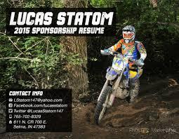lucas statom sponsorship resume lucas statom 2015 sponsorship resume cover