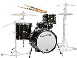 Ludwig Breakbeats by Questlove 4-Piece Black ... - Amazon.com