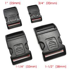 1pcs/pack Plastic Side Release Buckle Black For Tactial Backpack ...