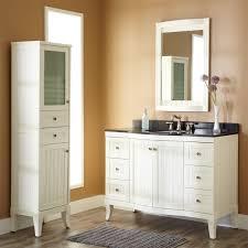 small oak bathroom floor corner white wooden bathroom vanity with black granite top and double