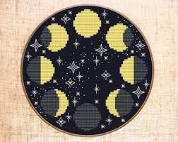 Woodland cross stitch pattern Space cross stitch Forest <b>Bear</b> cross ...