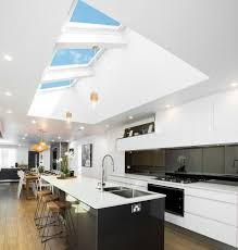 kitchen linear dazzling lights clear ceiling recessed: velux skylights will have a huge impact on your kitchen extension more daylight more