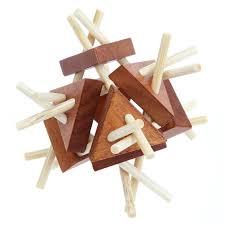 3D Vintage Kongming Lock <b>Luban Lock</b> Wooden Toys Puzzle ...