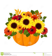 Image result for fall leaves and pumpkins clip art