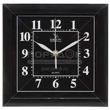 <b>Часы настенные пластиковые Вега</b> Классика черная П3-6-48 в ...