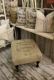 burlap foot stool i want one for my porch burlap furniture