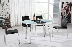 round glass extendable dining table:  contemporary dining tables