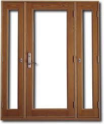 sidelight patio doors design features
