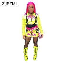 <b>Neon Green</b> Orange Striped Sexy Playsuit Women <b>Mesh Patchwork</b> ...