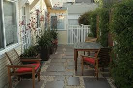 gravel patio paver furniture