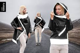 <b>Reflective Black</b> Rain Coat. <b>Cycling</b> jacket. Men, Women, Unisex ...
