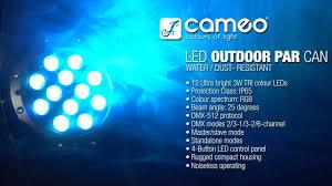 Cameo <b>Light OUTDOOR</b> PAR CAN - 12 x 3 W TRI Colour <b>LED</b> ...