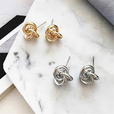 flashbuy oversized hollow round alloy drop earrings for women geometry wedding pendientes party jewelry
