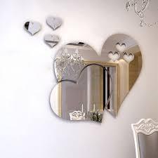 <b>New 3D Mirror Love</b> Hearts Wall Sticker Decal DIY Home Room Art ...