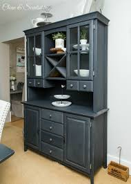 painted dining room furniture ideas dining room design ideas buffet and hutch painted in acsp graphite chalk paint colors furniture ideas