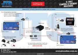 wiring diagrams jamie s touring solutions simple soleniod dual battery system in vehicle bcdc in camper caravan