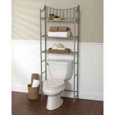 bathroom space savers bathtub storage: metal spacesaver bath storage rack  shelf satin nickel