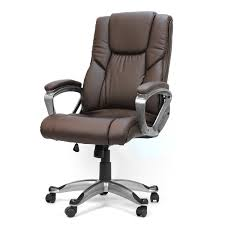executive office chair with pu leather back support big tall high back brown large oversized cushioning is plush and comfortable big office chairs executive office chairs