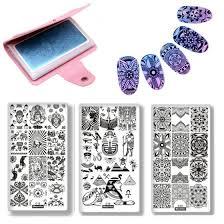 Shop 4Pcs/Set Buddha Pharaoh Mandala Manicure <b>Nail Art</b> ...