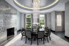 art deco dining room with baker furniture side chair barbara barry small square brushed steel art deco dining room