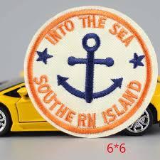 HOT sale <b>1PC</b> fashion anchor circular Iron On <b>Embroidered Patch</b> ...