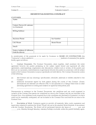 roofing contract printable documents roofing contract residential