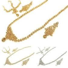 Large <b>Vintage</b> Silver Diamante & Kundan Stoned <b>Antique Gold</b> ...