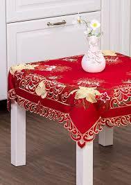 Скатерть <b>Santalino Колокольчики</b> на красном, 829-140, 85 х 85 см ...