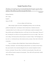 sample expository essays how to write a explanatory essay