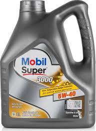 Моторное <b>масло Mobil Super</b> 3000 5W-40 <b>синтетическое</b> 4 л ...