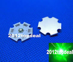 10PCS 3W <b>High Power Green</b> LED Emitter 510-530nm with 20mm ...